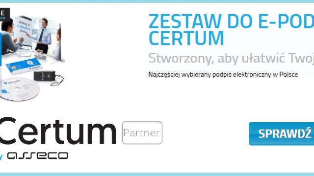 Podpis elektroniczny CERTUM