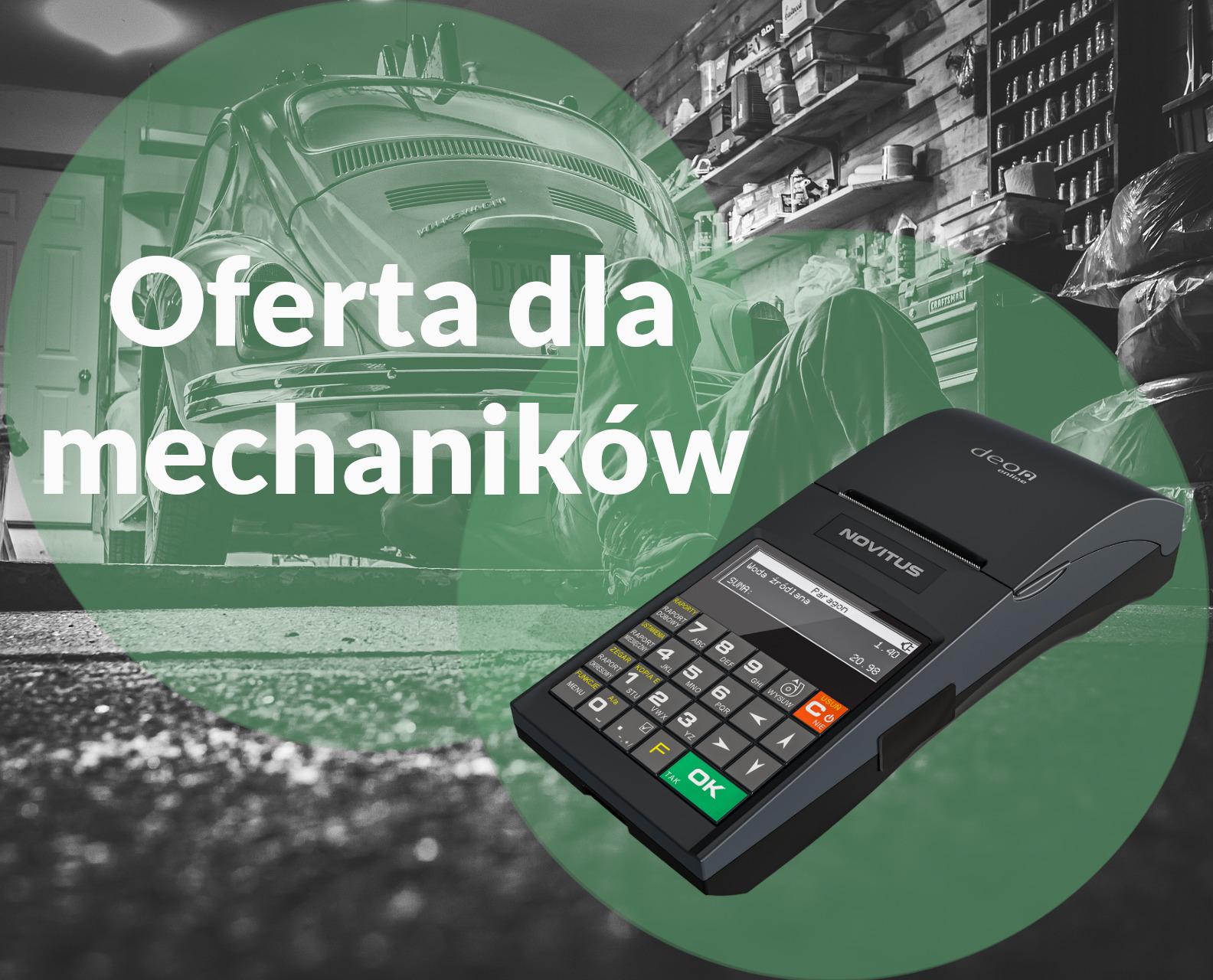 Kasy i drukarki fiskalne dla mechaników, warsztatów samochodowych i punktów wymiany opon